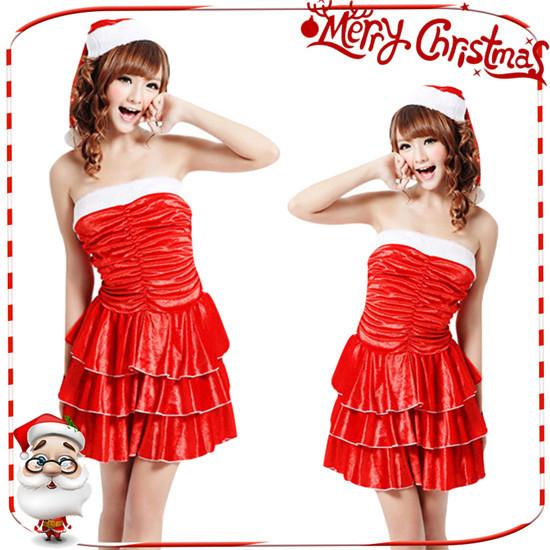 クリスマス衣装 サンタ コスプレ コスチューム サンタ  サンタ帽子 パーティードレス 女性用 レディース サンタ クリスマス衣装  サンタコスプレ  サンタコスチューム衣装