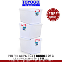 Toyogo Pin Pin Storage Box With Wheels (Bundle of 3) (9908)