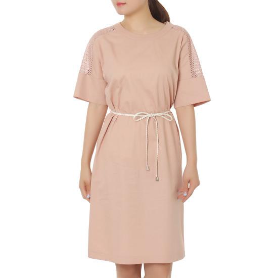 オンエンオンぽつぽつパンチングパクシパターンワンピースNW6MZ027ベルトの紐 面ワンピース/ 韓国ファッション