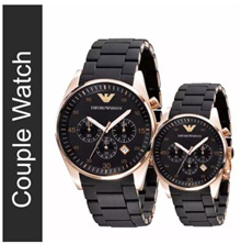 Couple Emporio Armani Sportivo Watch AR5905 and AR5906 [Free Express Delivery]