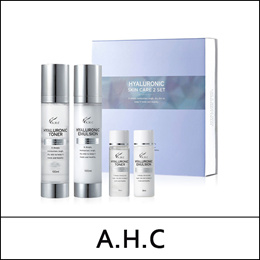 [A.H.C] AHC (sg) Hyaluronic Skin Care Set / Toner 100ml+ Emulsion 100ml (+2 free gifts)