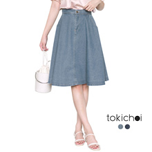 TOKICHOI - Washed Denim Skirt-180330