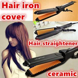 Hair Straighteners/hair styling crimper/ hair iron cover/ceramic nanometer glaze anion/HAIR DYE