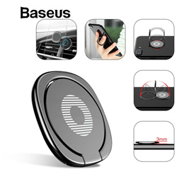 Baseus Mobile Phone Holder Stand For iPhone X 8 Finger Ring Holder Thin Ring Stand Suitable For Magn