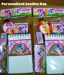 Personalized/Customized My Little Pony Birthday Goodies Bag