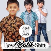 Baju anak - kemeja batik anak laki-laki umur 2-13 tahun part 2