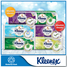[Bundle of 2] Kleenex Ultra Soft Bath Tissue 3PLY - Cottony Clean/ Aloe Clean / Aroma Clean / Green Tea Clean