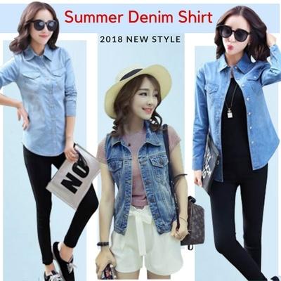 77b983dda9d7 NEW Plus Size Summer denim shirt short-sleeved women summer denim shirt  denim thin denim