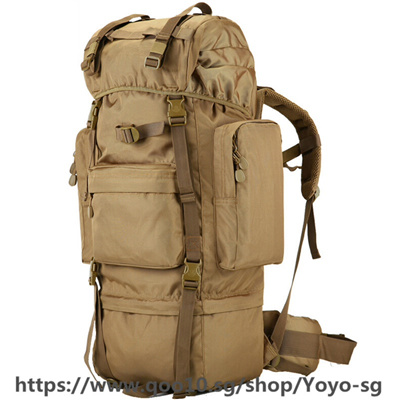 62a92dc66dd1 Qoo10 - 70 L Metal Bracket Backpack Outdoor Sports Bag Military ...