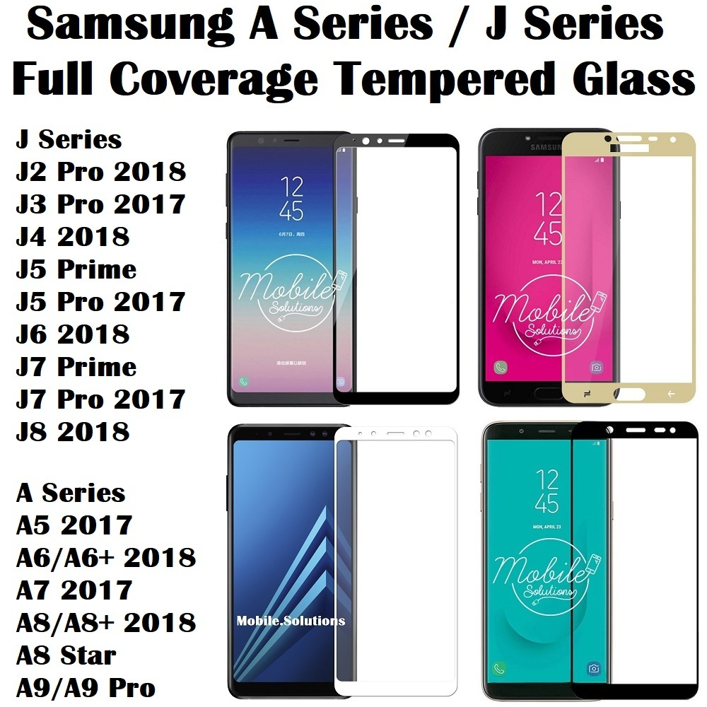 Qoo10 Full Coveragetempered Glasssamsung J A Series J8 7 6 5 Tempered Glass Cover Samsung J5 Pro Screen Protector Show All Item Images