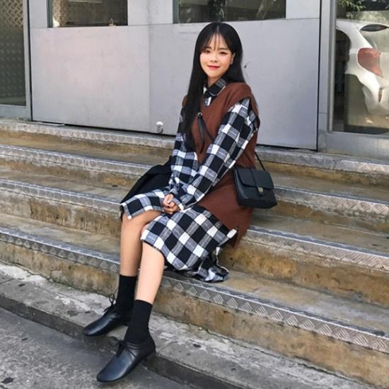 あっかんべーショップキロング高OPSワンピース プリントのワンピース/ 韓国ファッション
