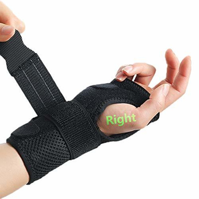 Wrist Injuries Pain Relief Sixport Wrist Brace Women Left Hand Adjustable Wrist Fitted Stabilizer Removable Aluminum Splint Carpal Tunnel Hand Compression Support Wrap for Men