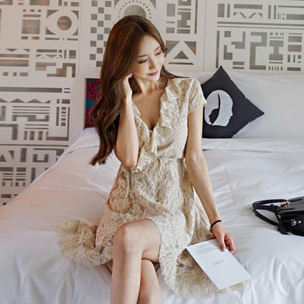 デイジーレースのワンピースnew ミニワンピース/ワンピース/韓国ファッション