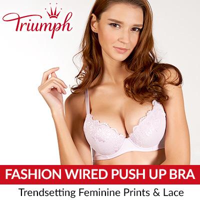 887fdf6474 Triumph Fashion Wired Push Up Bra (Lilac Blossom)   Triumph   Bra   Woman