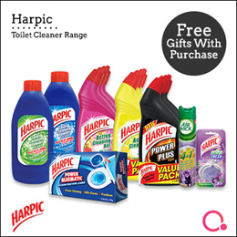 [RB] 【DURABLE CLEANING】Harpic - Active Cleaning Gel Which Kills 99.9% of Germs Removes Tough Stains