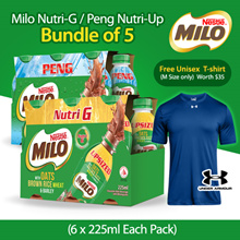 [[NESTLE]]] MILO PENG [NUTRI UP] OR NUTRI G [6x225m] x 5  **FREE UA T shirt