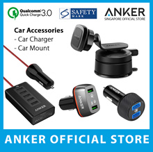 Anker PowerDrive 5 Port Car Charger 2 Port USB Charger 100% Authentic Fast Delivery