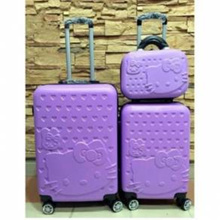 HELLO KITTY 3 IN 1 PIN NUMBER LOG LUGGAGE 24&quot /20&quot /12&quot