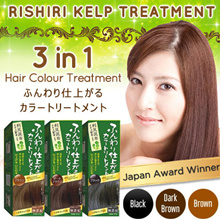BUNDLE DEAL SPECIAL-Voted #1 in Japan! Rishiri Natural Kelp Hair Dye Colour Treatment [Use up to 9X]