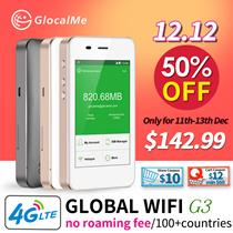 【Special Deal】GlocalMe Portable Wifi Hospot Wireless Router Pocket Mifi 4G LTE Network Free Roamig