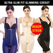 【Ready Stock】Ultra Slim Fit Slimming Corset/Shape Wear/Body Fit Shaper M ~ 4XL [3 Color]