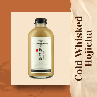 Cold Whisked Hojicha Milk