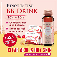 Kinohimitsu BB Drink 10sx2 *Highly Reviewed n Rated* Bird Nest Extract - For Oily Skin Scar heal