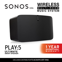Sonos Play:5 Wireless Speaker 2 Colors (Exclusive Distributor 1 Year International Warranty)