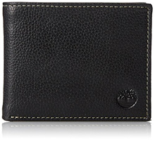 AUTHENTIC Timberland Mens Genuine Leather Wallet with Gift Box Sportz Bifold Passcase Black IN STOCK