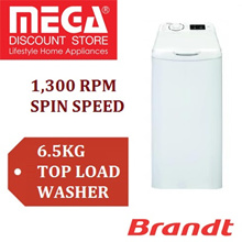 BRANDT BT653MA 6.5KG TOP LOAD WASHER / LOCAL WARRANTY