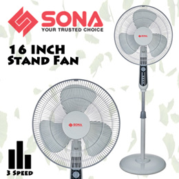 SONA Stand Fan S11 / 3 Speed / 2 Hrs Timer / 16Inch