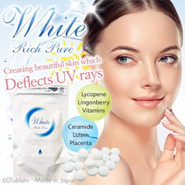 White Rich Pure☆ Japan Whitening Supplement ※BLOCK⇒UV-A/UV-B/ACNE/MOLE/SKIN DARKNESS