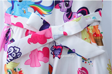 online My Baby Girls Dresses Girls Little Pony Dress Cartoon Princess Costume Kids Clothes For 3-8Y