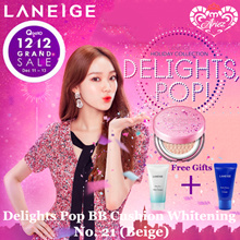 [12.12 Special] Laneige Delights Pop Holiday BB Cushion Whitening No.21 (Beige) + Laneige Free Gifts