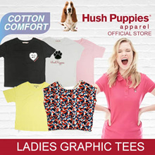 Hush Puppies Ladies Tee Short Sleeve/Sleeveless with/without Embroidery