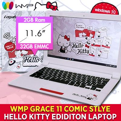 8d0a61208 WMP Grace 11 Comic Style Hello Kitty Laptop|11.6Inch|Lightweight|Window 10