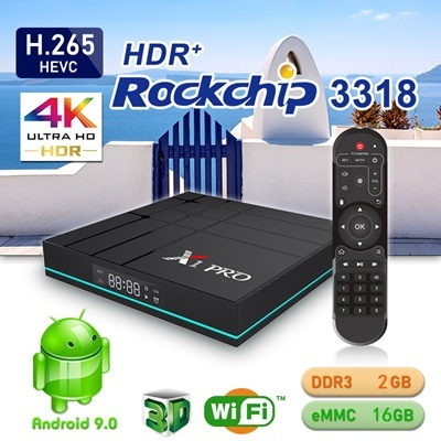 New X1 PRO set-top box RK3318 Android 9 0 TV BOX 4GB+64GB Smart player  Dual-band WIFI SMart TV BOX