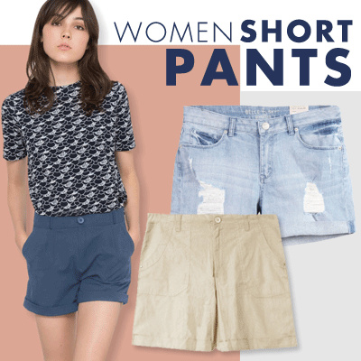 TURUN HARGA! Women Short Pants Deals for only Rp75.000 instead of Rp75.000