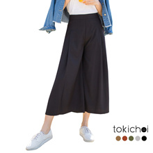 TOKICHOI - Pleated Wide-legged Trousers-180331