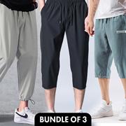 [Bulk sale 3 pcs] Jogger ★Cotton men pants★ Haroun ★ Cargo ★ Track pants★sports/ long