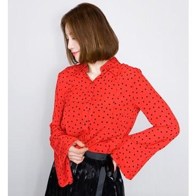05. polkadot shirt - red - free