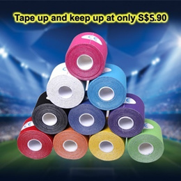 5m X 5cm Kinesiology MUSCLE/SPORTS Tape [Many colours available with individual Box. Order in bulk for FREE SHIPPING] (D-ST5X5-1)