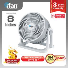 iFan - PowerPac Table fan Desk fan Turbo Fan Air Circulator with Airflow (IF7408)