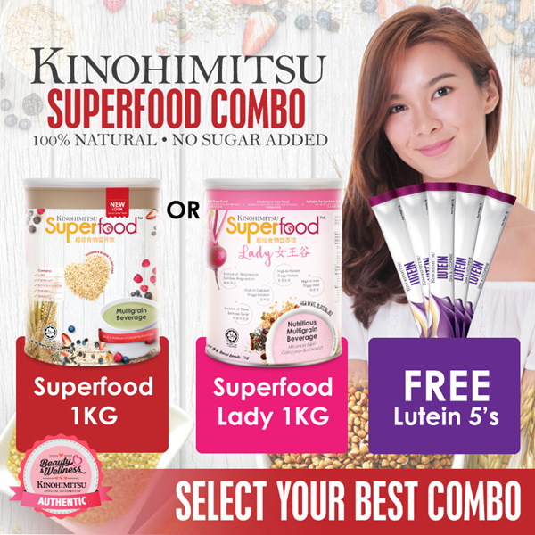 Kinohimitsu Superfood 1KG / Superfood Lady 1KG Deals for only RM78 instead of RM78