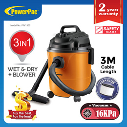PowerPac Vacuum Cleaner Wet and Dry