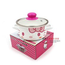 Exported to Japan Hello Kitty Kitty cat ears pot of porridge with milk pan pan enamel pot cooking no
