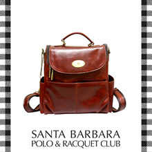 Santa Barbara Polo and Racquet Club Oil Leather Backpack