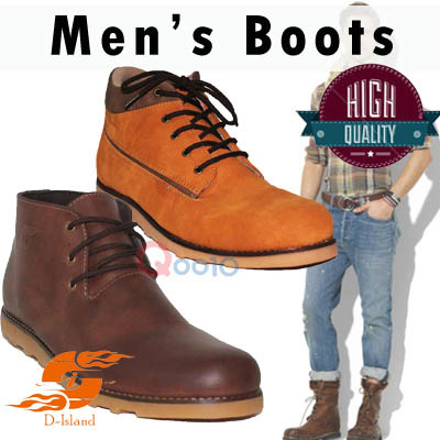 HIGH/LOW BOOTS**SEPATU BOOTS PRIA**HIGH QUALITY**LOCAL BRAND Deals for only Rp305.000 instead of Rp305.000