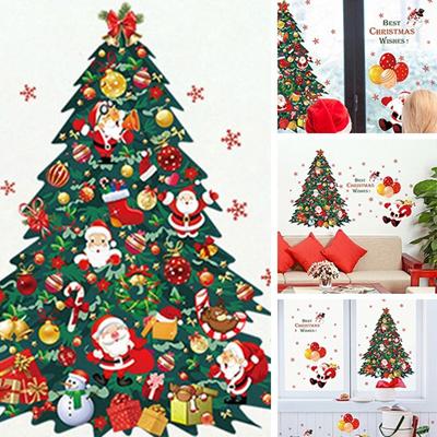 Qoo10 New Christmas Tree Santa Claus Bedroom Living Room Removable
