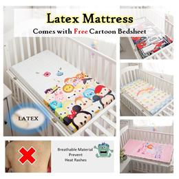 💖 Baby Cot Playpen Latex Mattress 💖 Children Newborn Nursing Kids School 💖 Natural Breathable